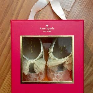 kate spade Shoes - Baby Girl Gold Kate Spade Ballet Flat Shoe